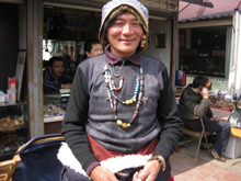 Chinese Man Wearing Malas